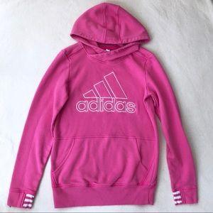 adidas Pullover Hoodie Sweatshirt - Pink